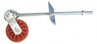 Ролик з подвійним кріпленням зі шпилькою, різьба М10/188