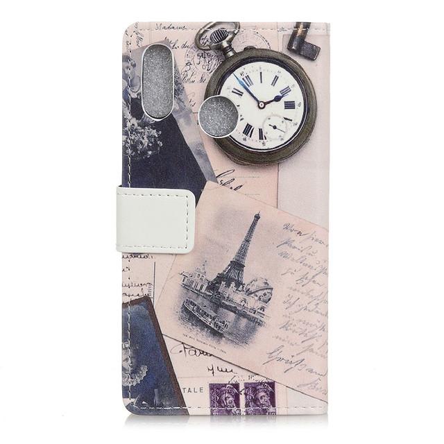 Samsung Galaxy a10s чехол книжка Эйфелева башня и часы