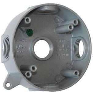 "Коробка монтажная металлическая e.industrial.pipe.db.round.thread.5.x.1/2"", круглая  на 5 резьбовых входов для труб 1/2"""
