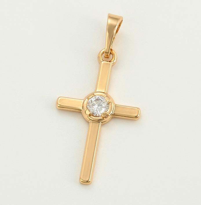 Крест с камушком высота 28 ширина 15