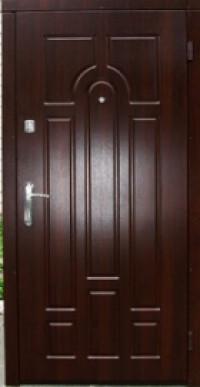 Входная дверь Эконом Классик коньячный орех 860х2050