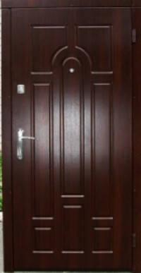 Входная дверь Эконом Классик коньячный орех 860х2050, фото 2