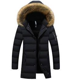 Мужской зимний пуховик куртка. Модель 729.