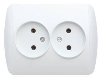 Розетка e.install.stand.810D без з/к двойная