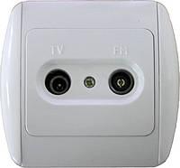 Розетка e.install.stand.815TM TV+радио с рамкой 6b300a95a0ff5