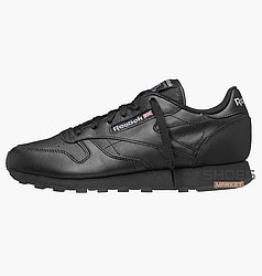 Женские кроссовки  Reebok Classic Leather Black 3912