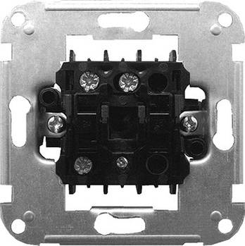 Механизм e.mz.11272.s2w.l выключателя одноклавишного лестничного с подсветкой