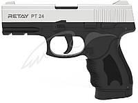 Пистолет стартовый Retay PT24, 9 мм, хром