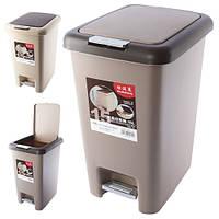 Відро відро для R85424 пластик, 15л, бежевий, 39см, відро для сміття, відро для сміття, відра, відро з кришкою, для будинку