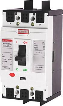 Шкафной автоматический выключатель e.industrial.ukm.60Sm.63, 3р, 63А