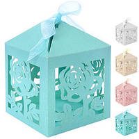 Бонбоньєрка (коробочка для цукерок) Jasmine N00492 в упаковці 50 шт, 6 * 6 * 6 см, бонбоньєрки, весільні бонбоньєрки, бонбоньєрки гостям, бонбоньєрки