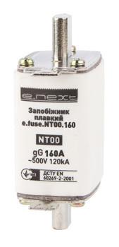 Предохранитель плавкий e.fuse.NT00.160, габарит 00, 160А
