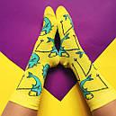 """Носки """"Strange animals/Fish"""" желтые, фото 2"""