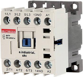 Контактор e.industrial.ukc.9M.220, 9А, 220В, 1no, малогабаритный