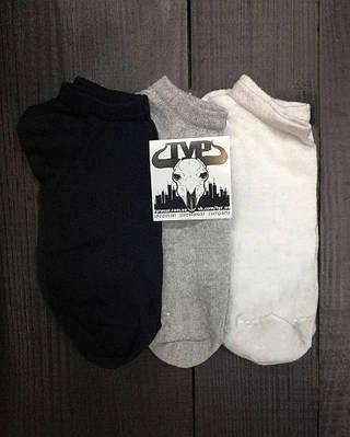 Короткие носки мужские ТУР черные, серые, белые