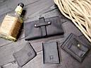 Мужской кожаный кошелек ТУР, фото 5