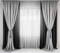 Готовый комплект штор для гостиной стильный, фото 1