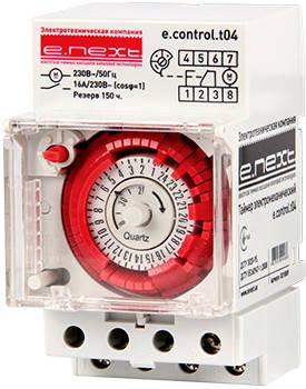 Таймер электромеханический e.control.t04