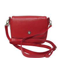 Женская кожаная сумка-клатч, фирма Karya, красного цвета