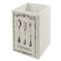 """Підставка під фраже """"Utensils"""" R22174 МДФ, 11.5 * 18 * 11.5см, кухонне приладдя, лоток для столових приладів, посуд, кухня"""