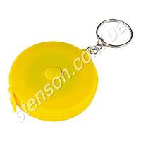 """Метр-брелок м'який """"Сонечко"""" R87562 жовтий, 1м, пластик / метал, рулетки, інструмент, вимірювальний інструмент, вимірювальний інструмент"""
