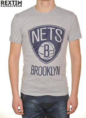Футболка мужская серая Nets Brooklin