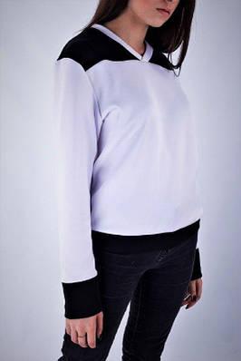Свитшот женские черный с белым бренд ТУР Размер: S