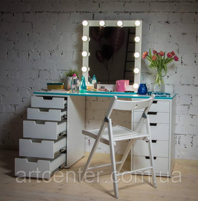 Лаконичный туалетный стол с зеркалом, гримерный стол, стол для визажиста