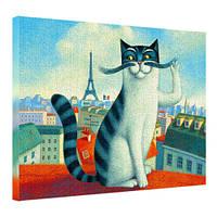 Картина на холсте Кот с усами 45х65 см (H4565_ZVR004)