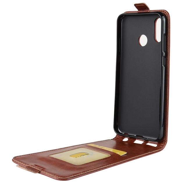 чехол Huawei Honor Play флип коричневый