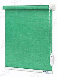 Рулонные шторы Меланж Морская волна (бирюзовые)