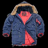 Парка Куртка зимняя летная Slim Fit Аляска N-3B Синяя Размер XXL Украинский  60- a1773c9e54739