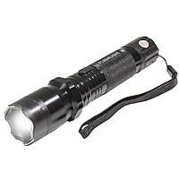 ☇Фонарь Police 1101 LED Black тактический Металл светодиодный ручной для рыбалки
