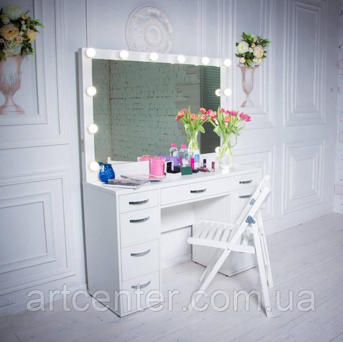 Гримерный стол, стол для визажиста, туалетный стол