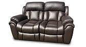 Кожаный двухместный диван Boston, не раскладной диван, мягкий диван, мебель из кожи