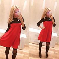 Коктейльное платье комбинированное