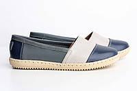 VM-Villomi Синие эспадрильи кожаные