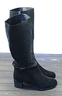 Зимние замшевые сапоги большого размера, фото 1