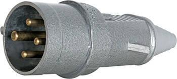 Силовая вилка переносная металлическая 3Р+Z, 400В, 32А, IP44