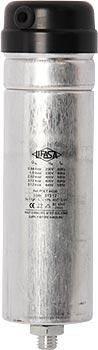 Самовосстанавливающийся цилиндрический конденсатор для коррекции коэффициента мощности 2,5 кВАр, 400В (3 кВАр 440В)