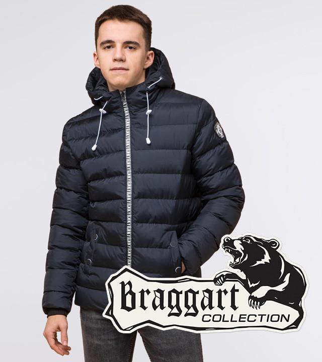 Подросток 13-17 лет | Куртка зимняя Braggart Teenager 76025 сине-черная