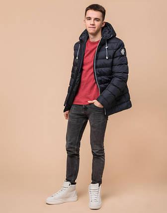 Подросток 13-17 лет | Куртка зимняя Braggart Teenager 76025 сине-черная, фото 2