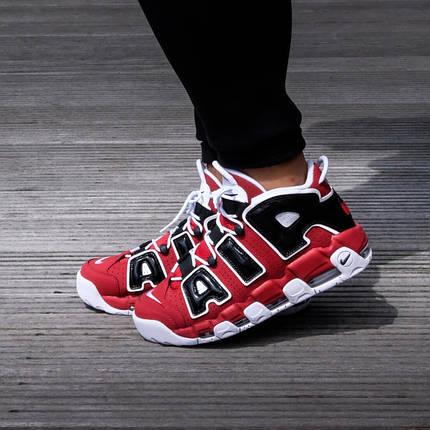 """Кроссовки Nike Air More Uptempo 96 Bulls """"Red"""" (Красные), фото 2"""