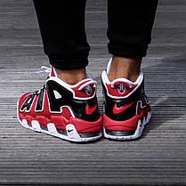 """Кроссовки Nike Air More Uptempo 96 Bulls """"Red"""" (Красные), фото 3"""