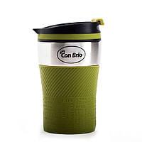 Термокружка Con Brio CB-360 - Оливковая, на 280мл, нержавейка, фото 1