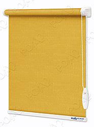 Рулонные шторы Лен Ярко-желтый