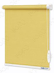 Рулонные шторы Лен Светло-желтый