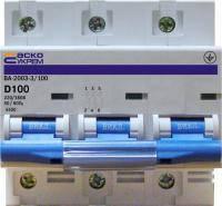 Автоматический выключатель 3р 100А АсКо