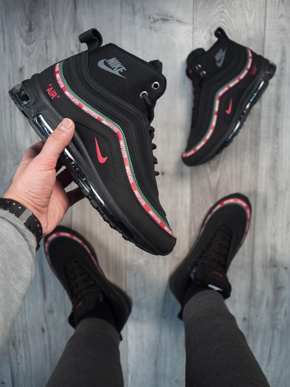 6980c28817a8 Мужские Кроссовки Nike Air Max 97 Black (МЕХ) Реплика — в Категории ...