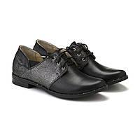 VM-Villomi Кожаные туфли черного цвета на низком ходу